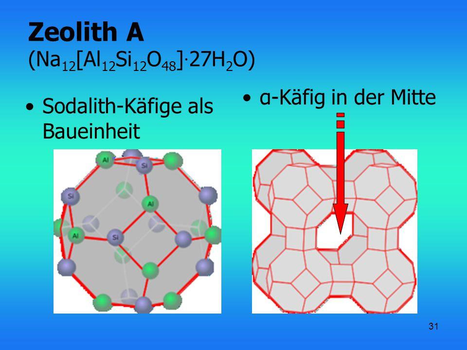 Zeolith A (Na12[Al12Si12O48]·27H2O)
